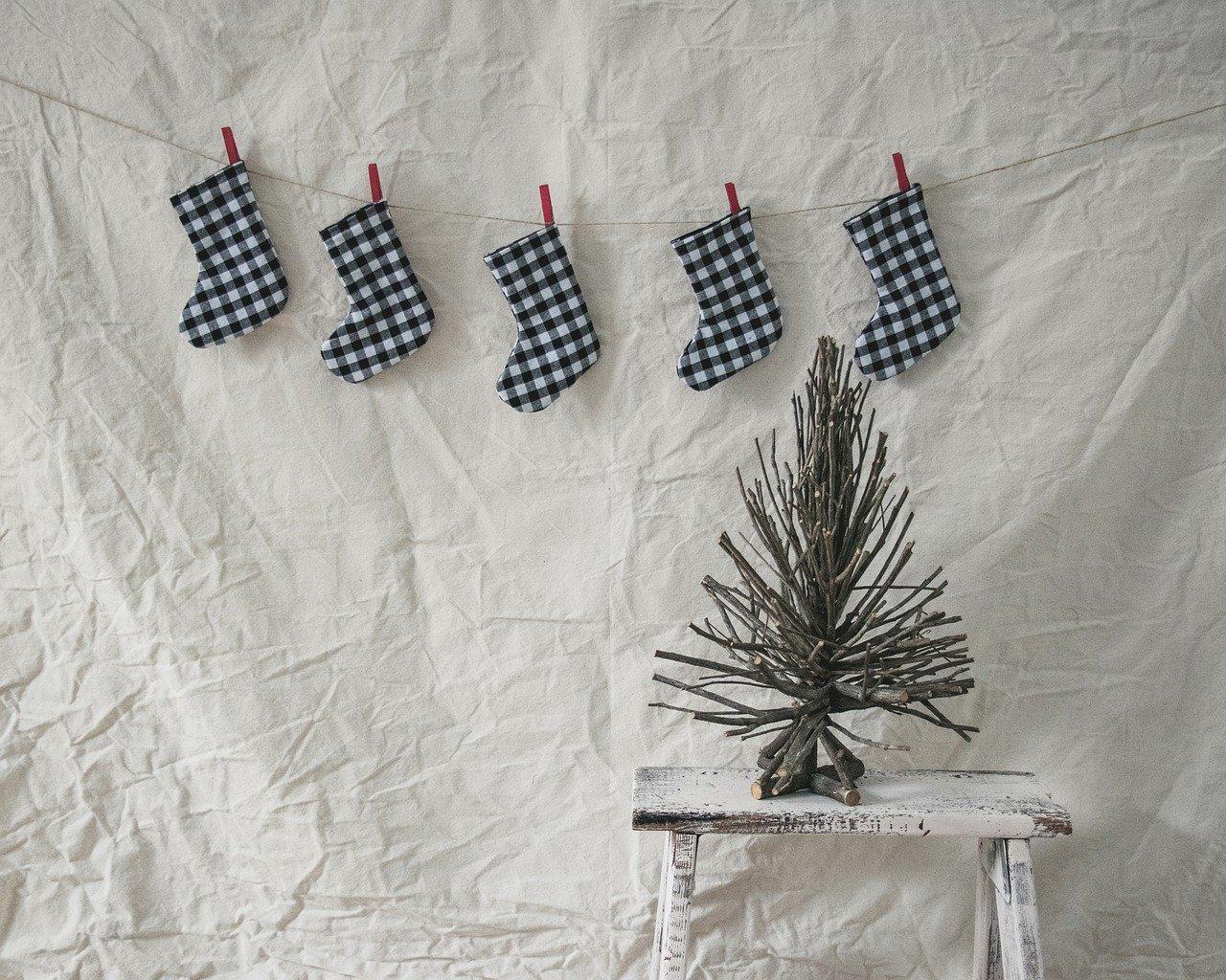 Christmas stockings hanging