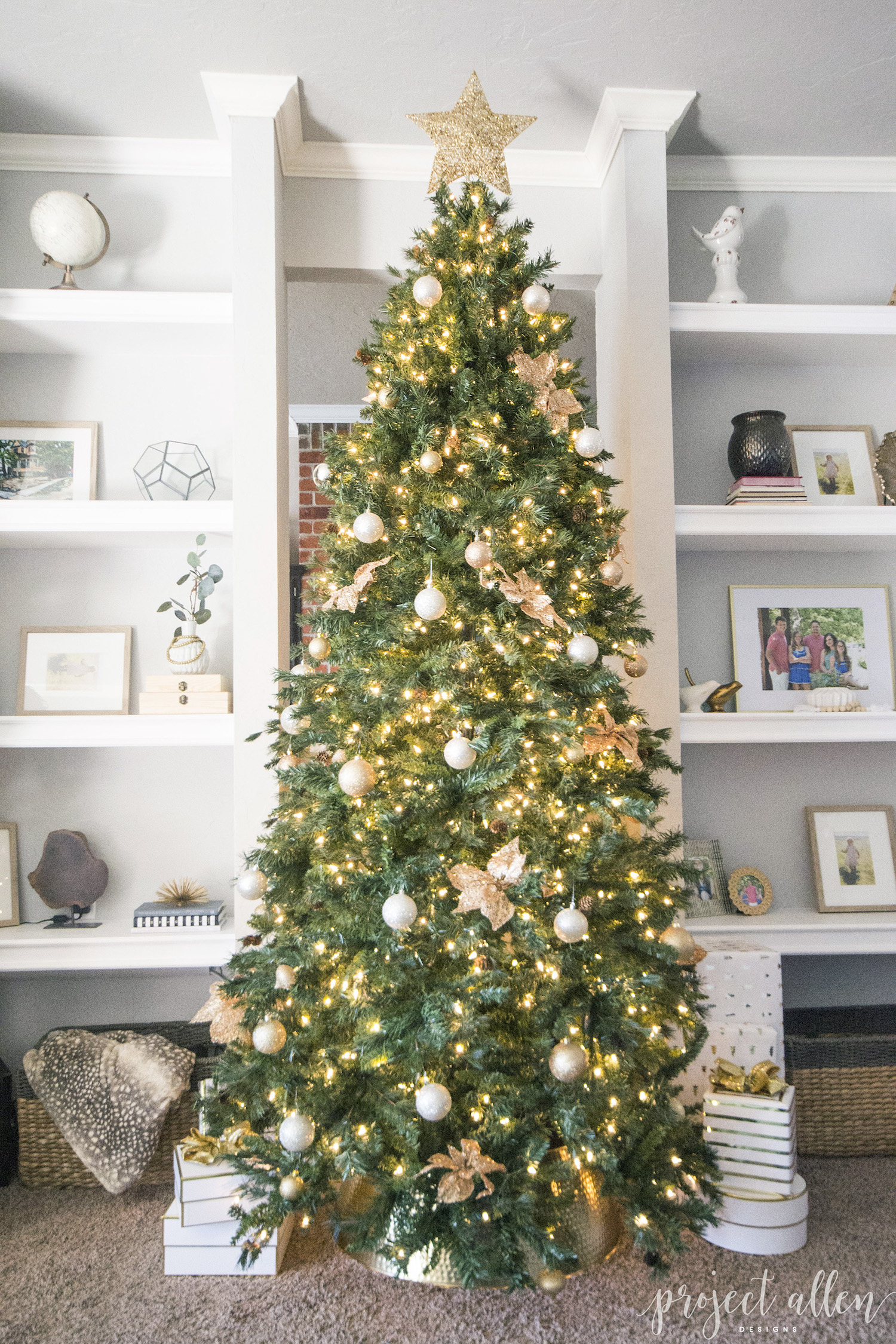 Gold Christmas Tree Decor Ideas Gold Decorations For Christmas Trees