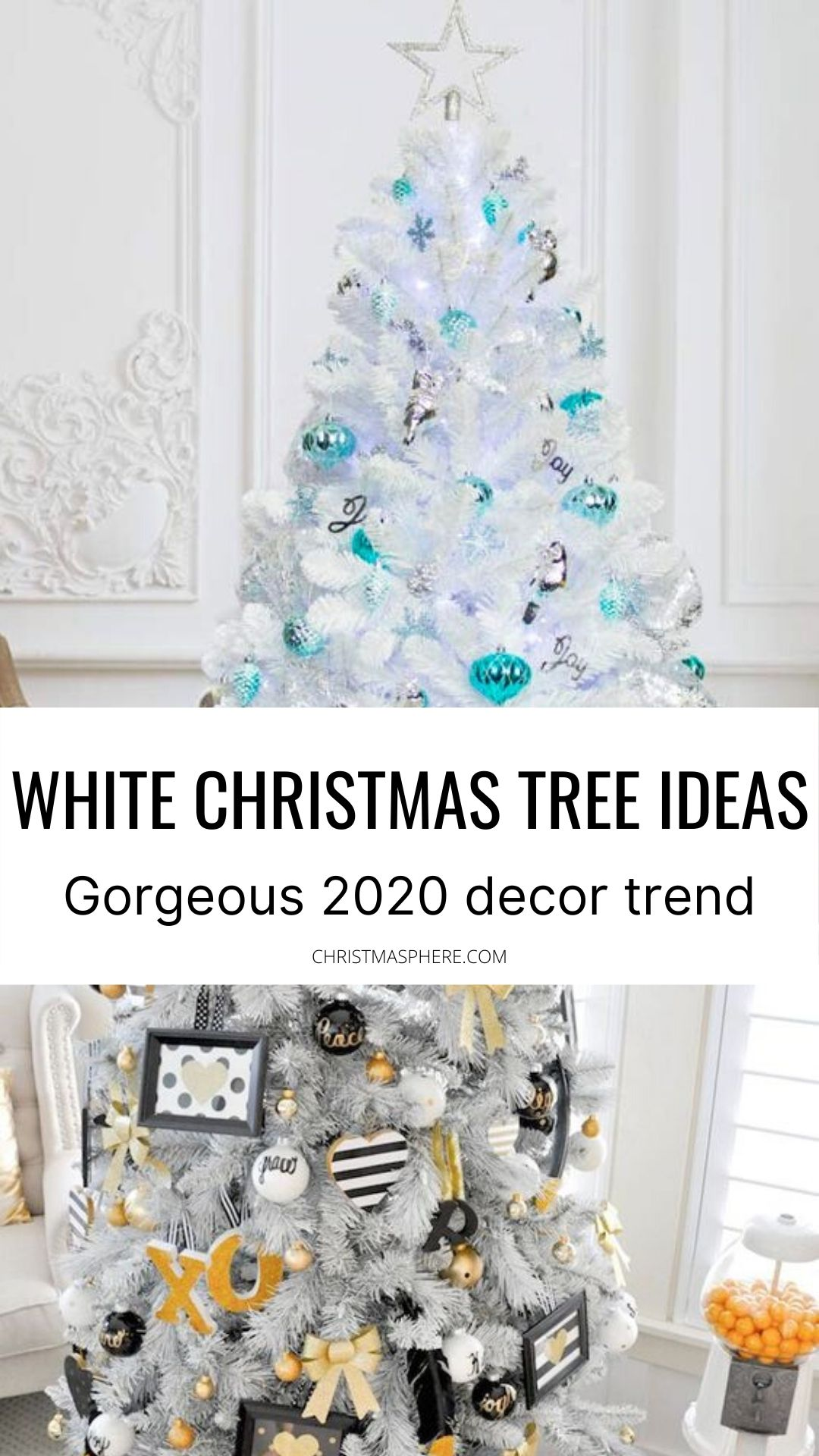 5 Gorgeous White Christmas Trees Christmas 2020 Trend