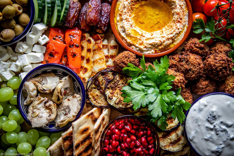 How To Make A Vegetarian Mezze Board Food Platter For Entertaining