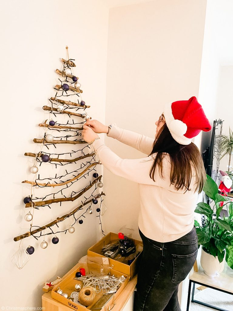 How To Make A Hanging Christmas Tree For The Wall Foraged 2d Tree
